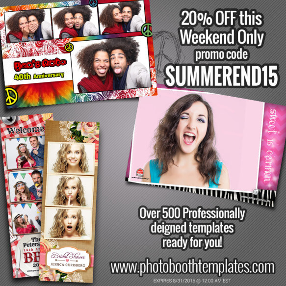 photo booth templates sale